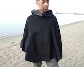 Special Listing for Katriona Men's Traveler Black Poncho in Large