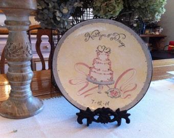 Hand Painted Best Seller Custom Wedding Plate