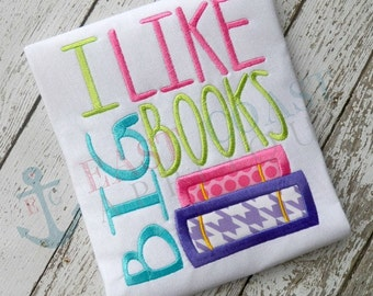 BIG BOOKS machine embroidery design