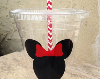 25 Plastic Minnie Mouse Party Cups-12 oz