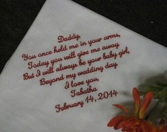 Dad Personalized Wedding Handkerchief