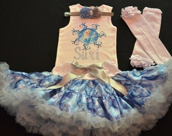 Frozen Elsa Inspired Outfit, Frozen Outfit, Disney Frozen Birthday