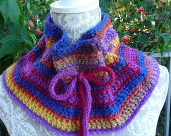 Bright Colors Pure Wool  Neck-warmer  -  1317
