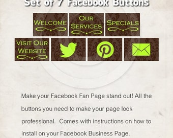 Facebook Buttons - Set of 7