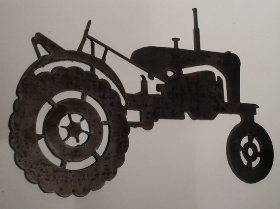 Metal Art Tractor : Items similar to metal wall art quot x tractor