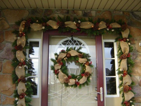 Unavailable listing on etsy for Door garland christmas