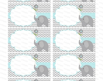 Blank Insert For Boy Baby Shower Invitation Thank You Notes Diaper Raffle Elephant  Baby Shower Boy