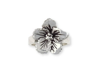 Sterling Silver Hibiscus Flower Ring Jewelry HIB-R