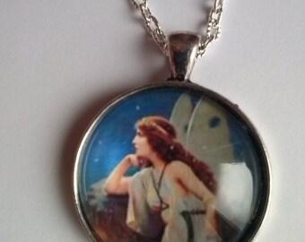 fairy picture pendant necklace