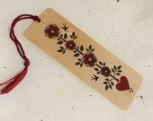 Roses Eco-Friendly Fine Art Wood Bookmark with Tassel