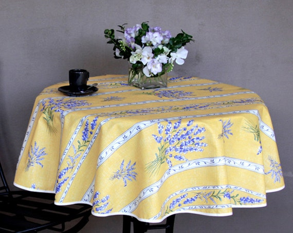 small round table cloth 42 or 60 coated or. Black Bedroom Furniture Sets. Home Design Ideas