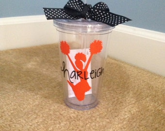 Personalized 16oz. Tumbler with Lid and Straw