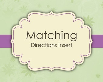 Matching Directions Inserts - Digital File