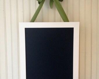 """Dorm decor, MED framed magnetic chalkboard, 16""""x12""""center, magnet board, memo board, photo display, classroom sign"""