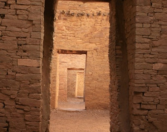 Photo of Doors at Chaco Canyon Ancient Ruins in New Mexico