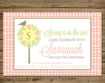 Country Birthday Invitation - Country Birthday Party Invite Girl - Printable Digital File