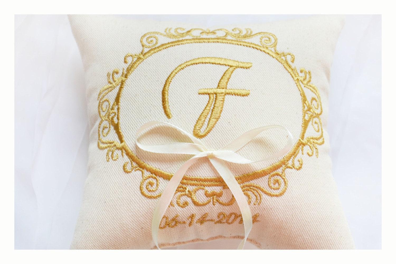 Personalised Wedding Ring Pillow Ring Pillow Ring Bearer
