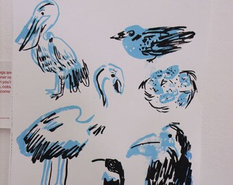 Bird Screen Print
