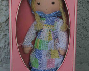 Knickerbocker NRFB Little Girl Holly Hobby Doll - 1980s