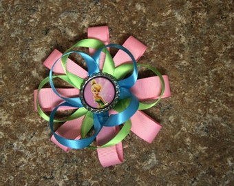 TinkerBell Hair Bow Pink