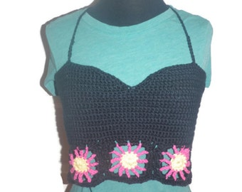 Lazy Daisy backless tank top, corset top, festival wear, free USA shipping!