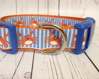 Fun Crabs Dog Collar