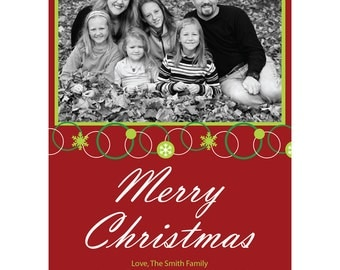 Merry Christmas Digital Holiday Photo Card