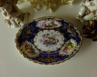 Blue Sèvres Sapphire Dollhouse Miniature Tray