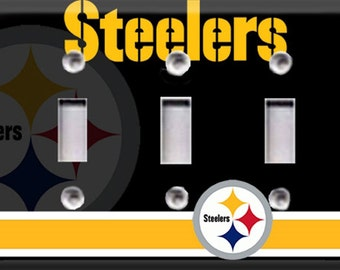 Pittsburgh Steelers Triple Light Switch Cover