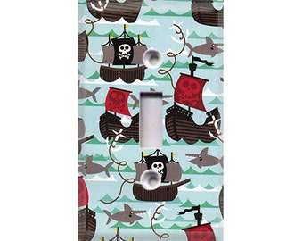 Pirate Ships & Sharks Light Switch Cover