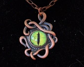 Steampunk/Gothic Morganna's Dragon Eye Necklace
