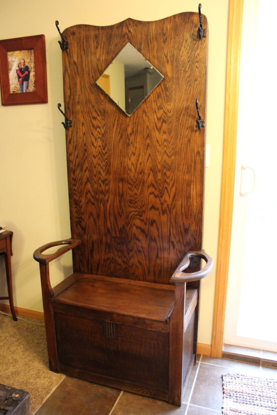 Antique Hall Tree By Bringingoutthecharm On Etsy