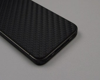 For Apple iPhone 4 4S Model A 1332 A 1349 A 1387 Black Carbon Fiber Protector Decal Skin Body Wrap 6pcs
