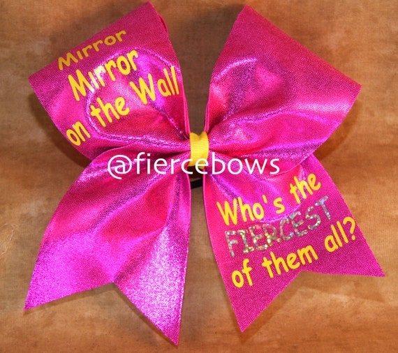 Items Similar To Summer Mirror Mirror On The Wall Cheer - cheer bow wall decoration designs