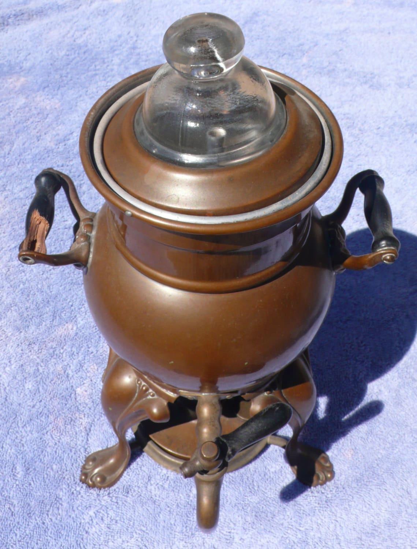 Antique Percolator Coffee Maker : Antique COPPER COFFEE pot SAMOVAR urn circa 1906 Vintage