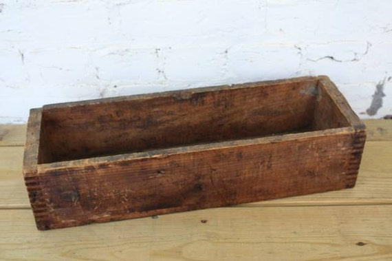 Vintage Wood Crate // Long Rectangle // Shipping By