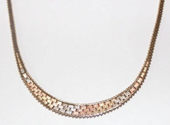 tri color gold necklace 28 images tri color gold