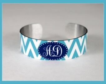 Monogrammed Cuff Bracelet, Personalized Cuff Bracelet, Monogrammed Teacher Gift, Monogrammed Teacher Gift, Monogrammed Gift, Cuff Bracele