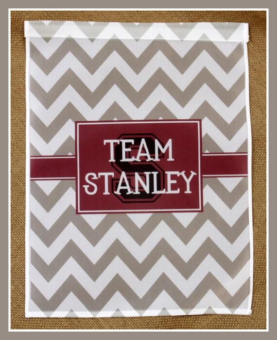 Sports Team Family Flag Garden Flag Monogrammed Personalized