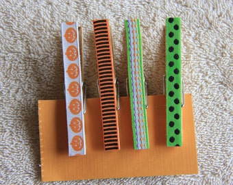 Decorative Halloween Clothespins with or without magnets