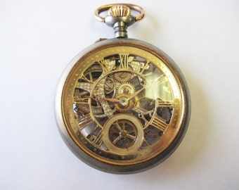 Spectacular Rare 1800's Skeleton Pocket Watch