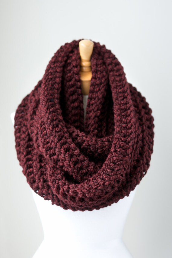 Oversized Infinity Scarf Knitting Pattern : Hand knitted infinity scarf oversized infinity by ...