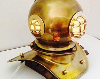 Scuba Diver's Helmet Light US Navy Mark V Nautical