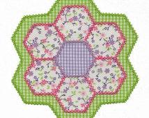 Hexagon Flower Applique