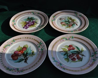 Hand Painted Fruit Plates