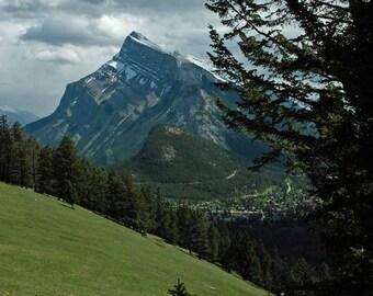 Giclée Print, Mountain Landscape, Rundle Mountain, Banff Alberta, Canada 2013