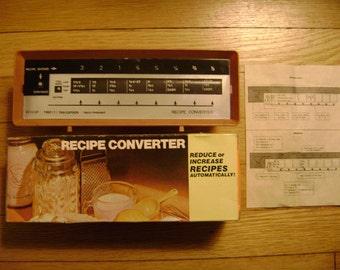 Recipe Unit/Serving Size Converter