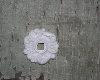 1 - knob backplate / furniture appliques / back plates / hardware accessories / DIY appliques / architectural pieces