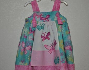Apron Knot Dress/ 100% Cotton/ Size 6-12 months