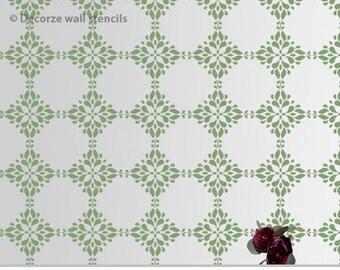 Decorative wall stencil, Flower patter stencil, reusable wall stencil, DIY home wall stencil